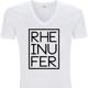 RHEINUFER V-Neck Shirt Weiß