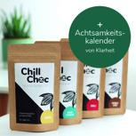 """1x Achtsamkeit & Chill Choc - 4 Sorten (je 100 g) und """"Klarheit""""-Achtsamkeitsplaner"""