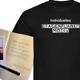 Signiertes Buch, T-Shirt (Einzelanfertigung) und Autogrammkarte
