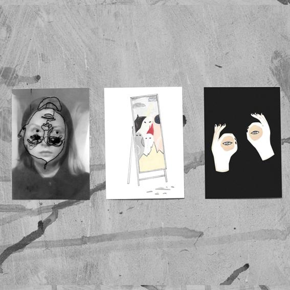 """Postkarten Set """"Seeing Her Ghosts"""""""