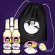 Turnbeutel mit Disco-Design und 3 Flaschen Disco-Limo + und Sticke zum Abholen