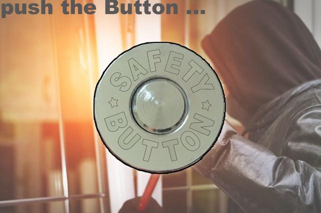 SAFETY-BUTTON - keine Chance für Einbrecher.