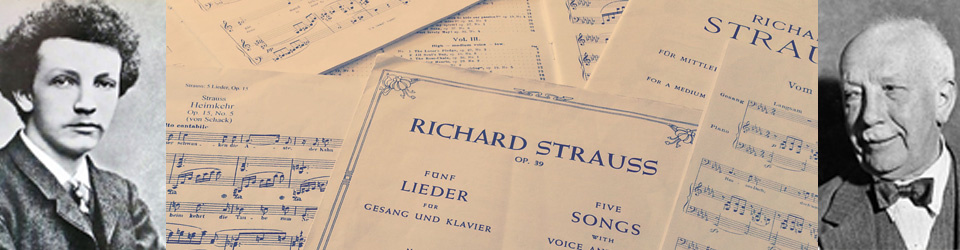 Richard Strauss - Ein Leben in Liedern - CD-Produktion