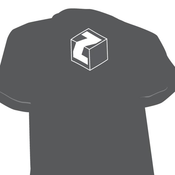 T-Shirt mit Zuckerwürfel (Siebdruck)