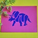 Unser Dank + handgedruckte Postkarte