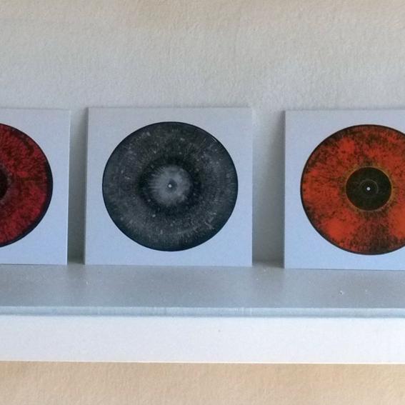 Set of 3 hand-signed art postcards