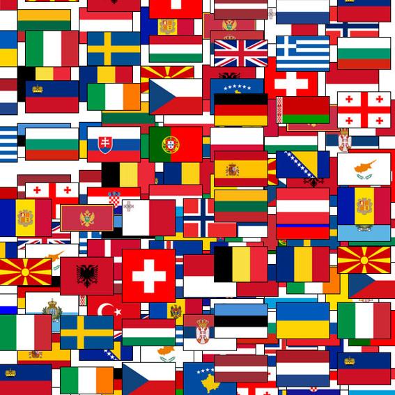 5 x one earth kids + Europaflaggen