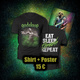 "Shirt ""Eat - Sleep - Thrash - Repeat"" + Poster"