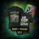 "Shirt ""Eat - Sleep - Thrash - Repeat"" + Poster"