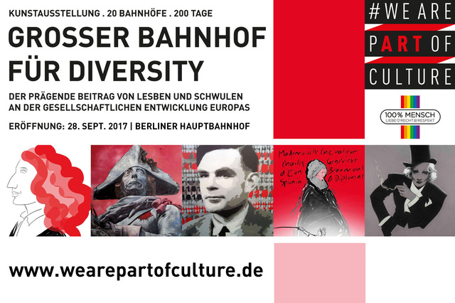 WE ARE PART OF CULTURE . Großer Bahnhof für LGBTI*
