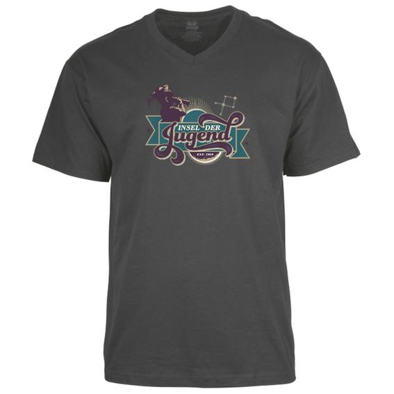 T Shirt V Neck (black / grey / green / blue / red)