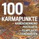 100 Karmapunkte, Namensnennung, Postkarte, Filmplakat, 2 Kinokarten