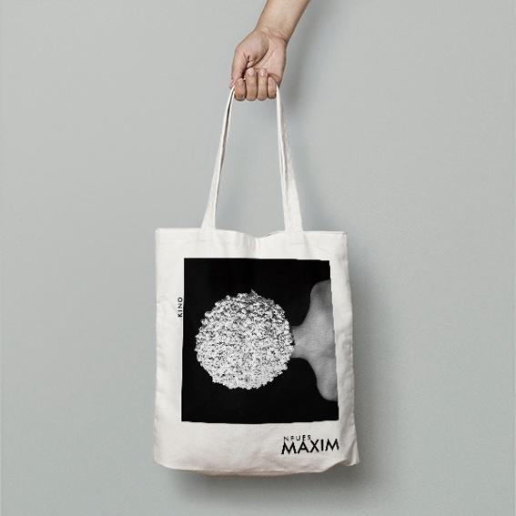 Stofftasche mit Maxim-Artwork