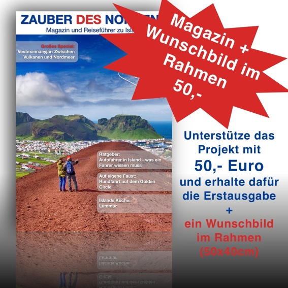 Magazin + Wunschbild im Rahmen