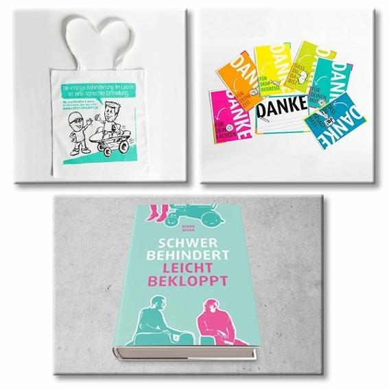 Kombipaket Buch, Tasche und Postkarten-Set