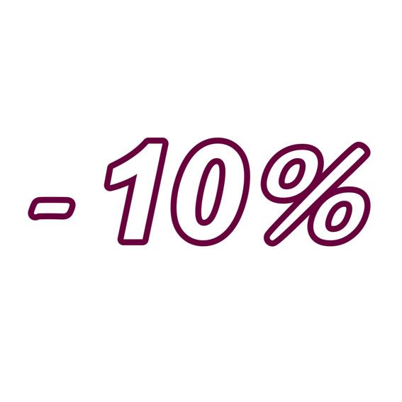 1 Jahr 10% Rabatt
