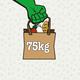 75 kg Lebensmittel retten