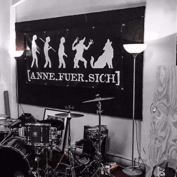 """Banner """"Stehplatz am Niedergang"""" (Signiertes Einzelstück!)"""