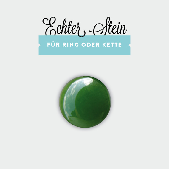 Grüner Jade-Stein für Ring oder Kette (limitiert!)