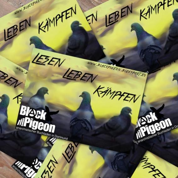 Black-Pigeon-Aufkleber (20x)