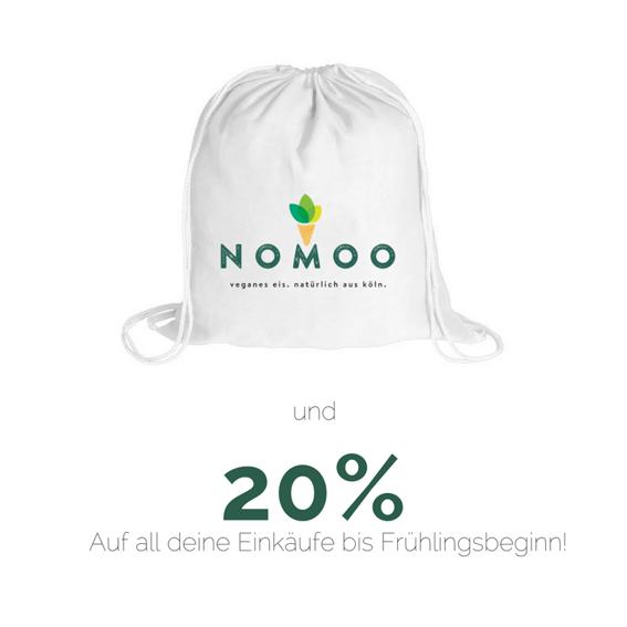 NOMOO-Turnbeutel + 20%-Wintergutschein* für unseren Onlineshop