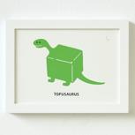 """Siebdruck """"Tofusaurus"""" (von Zubinski) + POLLE #1"""