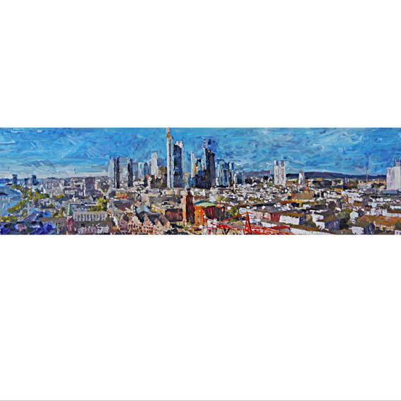 Panoramapostkarte Frankfurt