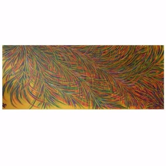 "Bild: Acryl auf Leinwand ""Sonnenfedern"""